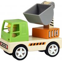 Buy cheap kids wooden digger truck toy from wholesalers