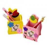 Buy cheap Creative wooden pen pot from wholesalers