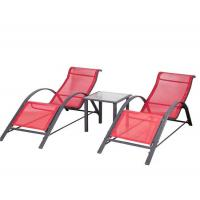 Buy cheap Sun loungers 3pcs knock down sunlounger set with table from wholesalers