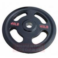 Buy cheap Weight plate & Rack HD0315 Four Grip Olympic Rubber Plate from wholesalers