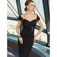 Buy cheap Summer Sheath/Column Beading Dropped Knee-length Mother of Bride Dress from wholesalers