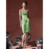 Buy cheap Natural Sleeveless A-line Zipper Knee-length Green Bridesmaid Dresses from wholesalers