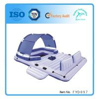 Buy cheap Inflatable Island Floating Raft Water Lounge Boat Lake 6 Person Pool Party Float from wholesalers