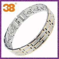 Buy cheap Hot Selling titanium germanium 5 in 1 3000gauss magnetic bracelet with magnet from wholesalers