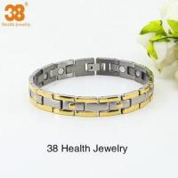 Buy cheap Hot Selling 2015 Newest Magnetic Health Gold Jewerly Bracelet from wholesalers