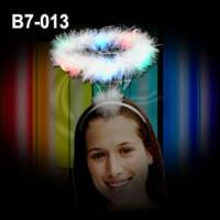 Buy cheap LED Flashing Angel Halo / Glowing Angel Headbopper / White Feathered Halo from wholesalers