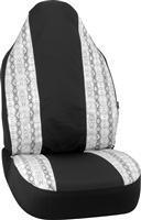 Buy cheap Seat Covers White Snake Skin Embellished Universal Bucket Seat Cover from wholesalers