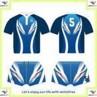 Buy cheap Custom high quality Y Neck Rugby team jersey set with 100%polyester from wholesalers