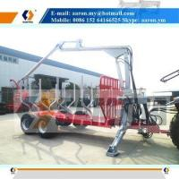 Buy cheap Log Trailer with Crane, Wood Loading Trailer, Forest Trailer from wholesalers
