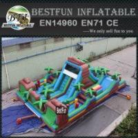 Buy cheap Big inflatable Jungle Lair Obstacle Assault Courses from wholesalers