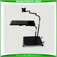 Buy cheap Iron computer desk with tempered glass computer desk with assembly insturctions from wholesalers