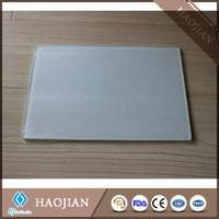 China sublimation blank tempered glass cutting board with smooth surface and white coating chopping board on sale