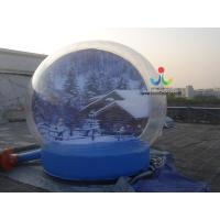 Buy cheap 0.8mm transparent pvc advertising Christmas gift cover inflatable bubble tent for trade show from wholesalers