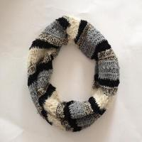 Buy cheap Women multi feather yarn&chenille strip snood product