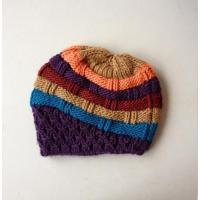 Buy cheap Knittings Women colored stripe beret from wholesalers