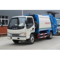 Buy cheap JAC 4CBM refuse compactor trucks wholesale for city sanitation project from wholesalers