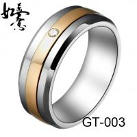 Buy cheap New Tungsten Rings 8mm Mens Tungsen Wedding Band CZ inlay GT-004 from wholesalers