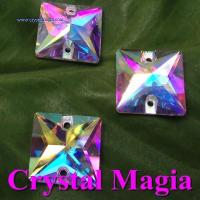 Buy cheap 201459173749square glass sewing rhinestone, flat back crystal stones from wholesalers