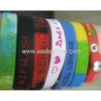 Buy cheap Embossed Silicone Sport Wristband from wholesalers
