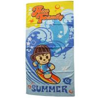 Buy cheap Pink Pet 100%cotton Baby beach towel Child printed beach towel from wholesalers