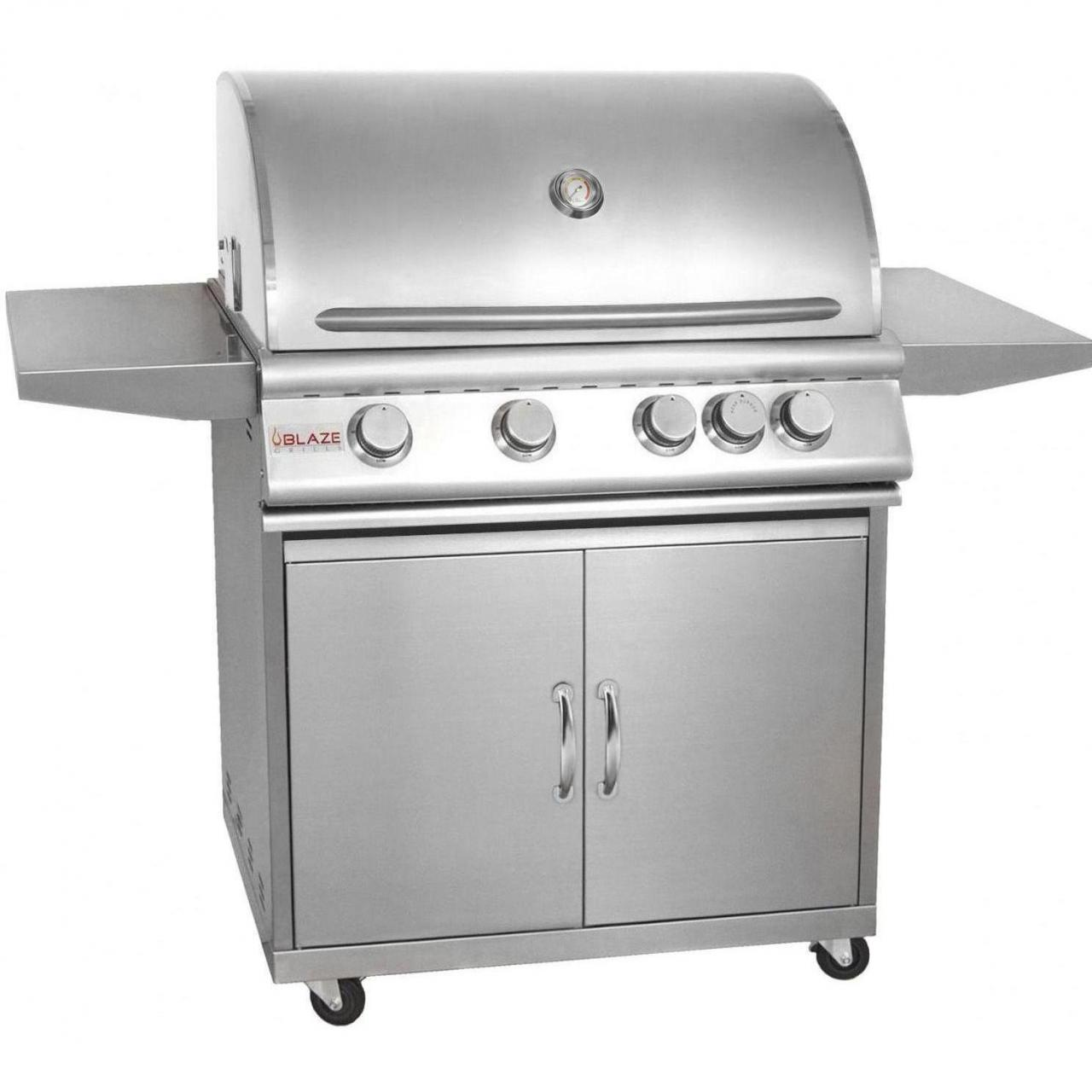 Buy cheap Blaze 32-Inch 4-Burner Freestanding Propane Gas Grill With Rear Infrared Burner - BLZ-4-LP from wholesalers