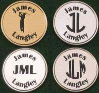 Buy cheap Christmas Decor Personalized Golf Ball Markers from wholesalers