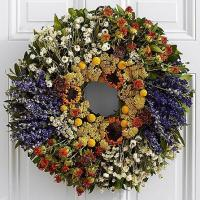 Buy cheap Centerpieces & Plants 18 Fields of Tuscany Wreath with Sunflower- Preserved from wholesalers