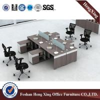 Buy cheap L shaped Office computer desk With side table cabinet office laptop computer table HX-CRV005 from wholesalers