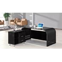 Buy cheap Bottom Price L shape director office table with tempered glass top HX-GL018 from wholesalers