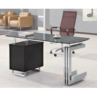Buy cheap Competitive Price executive glass office table with 3 drawers HX-GL026 from wholesalers