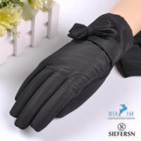 Buy cheap Simple design embroidery decoration lady goatskin leather gloves women leather gloves GL-EW265 from wholesalers