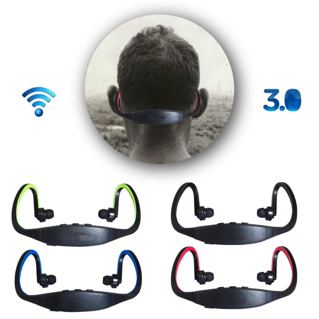 Buy cheap Black Sports Bluetooth Headset Earphone Headphone For cellphone Wireless Stereo from wholesalers
