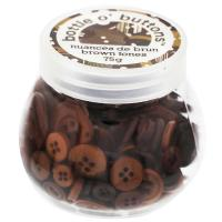 Buy cheap CRAFT BUTTONS CRAFTING ESSENTIALS Bottle o' Buttons - Brown Tones - 75g (2.6oz) from wholesalers