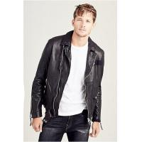 Buy cheap NEW ARRIVALS MENS PATCHED LEATHER BIKER JACKET from wholesalers