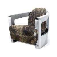 Buy cheap Stainless Steel Arm Aviation Cow Hide Tomcat Armchair from wholesalers