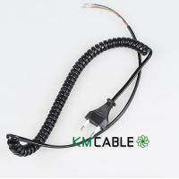 Buy cheap 2C1.0 coiled extension cable from wholesalers
