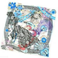 Buy cheap Print Scarf Women Fashion Flower Printed Square Silk Scarf from wholesalers