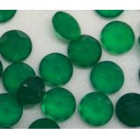Buy cheap Factory Price Good Quality Natural Round Cut Green Agate /Onyx Gemstone For Jewelry from wholesalers