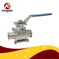 Buy cheap Food grade sanitary 4 inch stainless steel ball valve from wholesalers