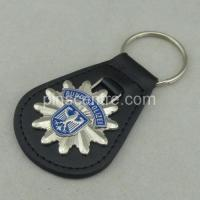 Buy cheap 3D Customized Leather Keychains from wholesalers