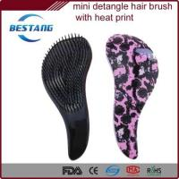 Buy cheap detangling paddle hair brush with solid finish and styling combs for hair from wholesalers