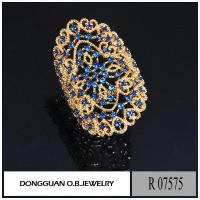 Buy cheap Rings R7575 Big Size Artificial Gold Plated Jewelry from wholesalers