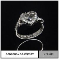 Buy cheap Rings On Line Shopping White Gold CZ Ring 925 /Gemstone Heart Ring from wholesalers