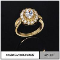 Buy cheap Rings Simple Design Wedding Rings, Gemstone Setting Jewelry, Romantic Gold Ring product