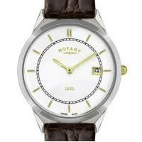 Buy cheap Rotary Mens Ultra Slim with Brown Leather Strap from wholesalers