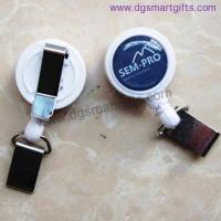 Buy cheap small dome shape badge reel with belt clip from wholesalers