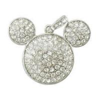 Personalized Mickey Mouse Shape Jewelry USB Flash Drive 128MB - 16GB