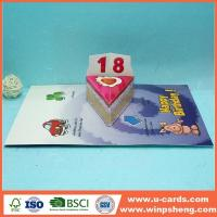 Buy cheap Die Cut Handmade Birthday Pop Up Cards from wholesalers