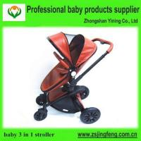 Buy cheap 2016 Hot Baby Stroller 3 in 1,High Quality Leather Material Travel System Stroller,360 Swivel Seat from wholesalers
