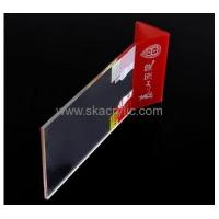 Buy cheap Wholesale acrylic tabletop sign holder 11x17 sign holder clear sign holder SH-049 from wholesalers